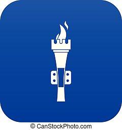 Torch icon digital blue