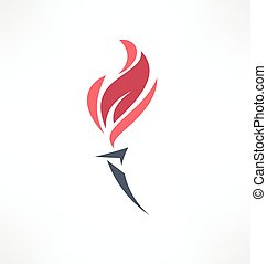 Torch icon. Logo design.
