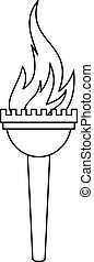 Torch icon, outline style