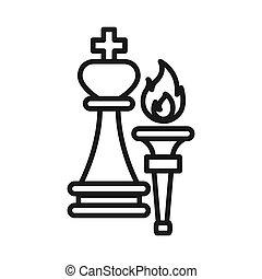 torch of leadership illustration design