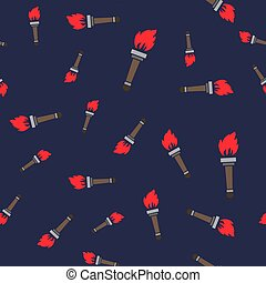 Torch Silhouette Seamless Pattern