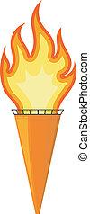 torch., vector, eps10, spotprent, illustratie