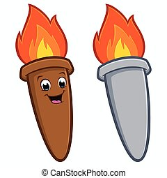 torche, dessin animé