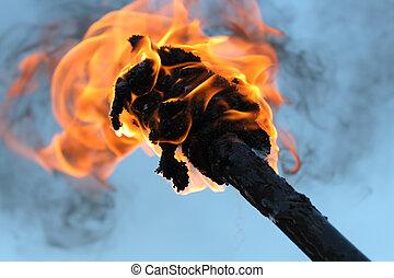 torcia ardente