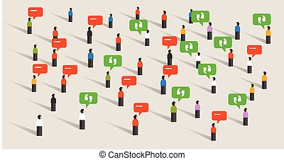 torcida, pessoas conversando, bolha, fala, social, mídia, comunicação, barulho, escutar, para, público