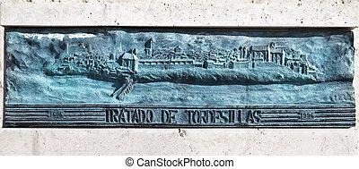 Treaty of Tordesillas - Tordesillas (Spain), place where ...