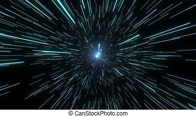 tordez vitesse, voyage, lointain, wormhole., étoiles, space., voyage, lumière, interstellaire, saut, par, résumé, espace, concept., élevé, hyperspace, détail