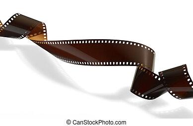 tordu, ou, vidéo, pellicule, photo, enregistrement