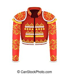 Toreador Jacket or Coat with Glowing Decoration Vector ...