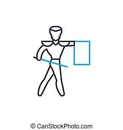 Toreador linear icon concept. Toreador line vector sign, symbol, illustration.
