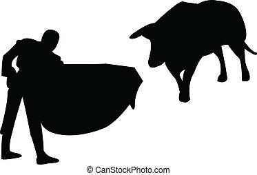 Toreador silhouette - vector