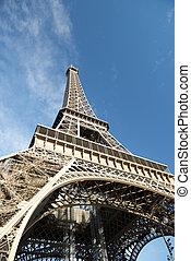 toren, eiffel, aanzicht, parijs, frankrijk