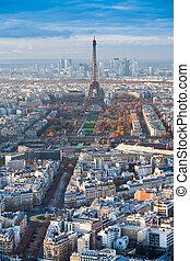 toren, eiffel, panorama, parijs