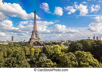 toren, eiffel, parijs, frankrijk