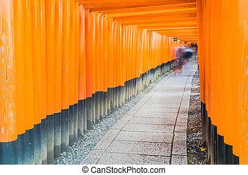 Tori gate - Beautiful Architecture Tori gate around fushimi...