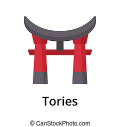 Tories flat vector illustration. Single object. Icon for ...