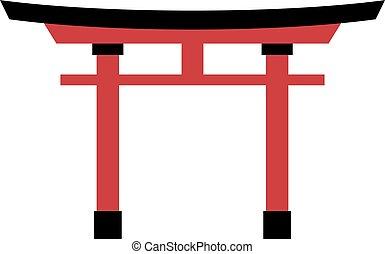 torii, empate, puerta
