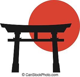 torii, japón, puerta