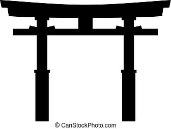 Torii traditional Japanese Shinto shrine gate