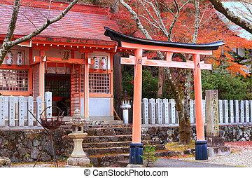 Toriia gateway at the entrance to a Shinto shrine
