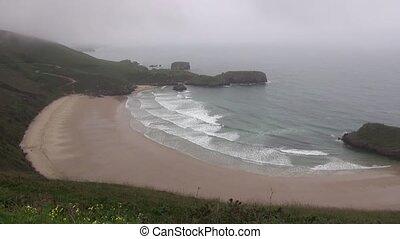 Torimbia beach 30 - view of coastline in Asturias at Spain...