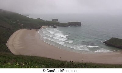 Torimbia beach 30 - view of coastline in Asturias at Spain...