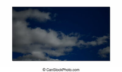 Cumulonimbus in blue sky with wind Time-Lapse - Torino,...