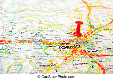 Livorno italy map Close up of livorno italy map with red stock