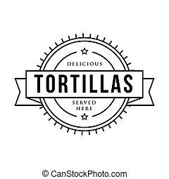 Toritillas vintage stamp sign