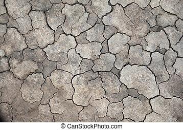 torka, knäckt, lera