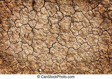 torka, naturlig, golv, smutsa, bakgrund, lera, röd, struktur