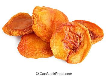torkat, persikor