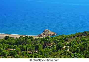 Torn Beach in Hospitalet del Infant, Spain