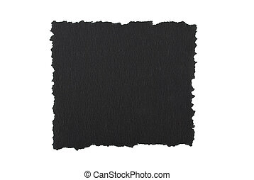 Torn black paper