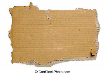 Torn cardboard - Torn section of a corrugated shipping ...