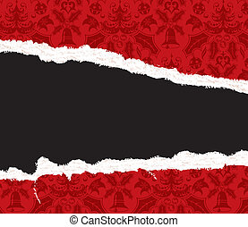 Torn Christmas Paper - Torn Christmas decorative paper with...