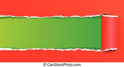 Torn color wrapped paper vector illustration