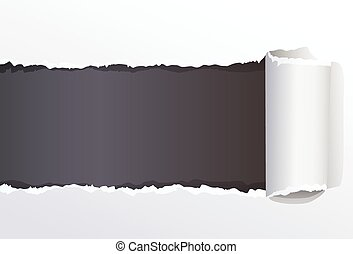 Torn Color Wrapped Paper With Space For Your Message