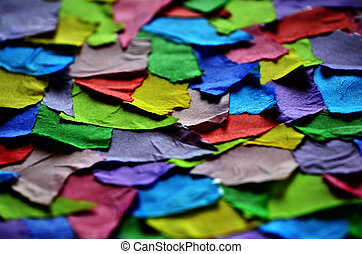 Torn Colorful Paper for Art Project - Torn colorful paper...