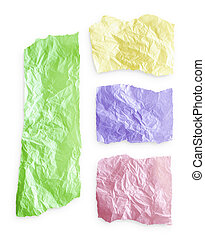 Torn colorful paper