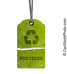 torn Eco Recycle Tag