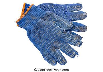 torn gardening gloves