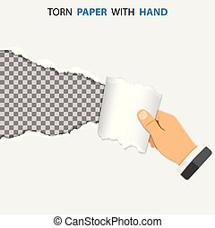 Torn Hole on Paper