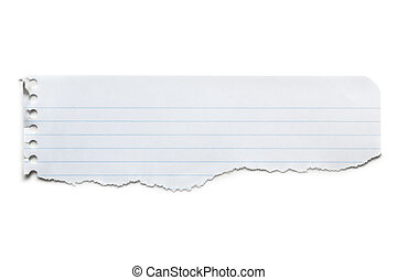 Torn Lined Paper Banner Isolated - Torn lined paper banner,...