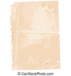 Torn Old Paper Page Background, editable vector illustration