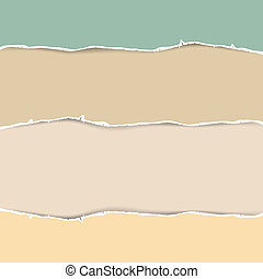Torn Paper Abstract Vector Illustration in Pastel Colors