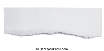Torn Paper Banner - Torn paper banner, isolated on white ...