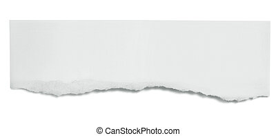 Torn Paper Banner - Torn paper banner, isolated on white...