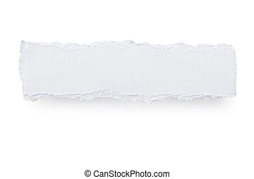 Torn Paper Banner - Torn white paper banner, casting soft...