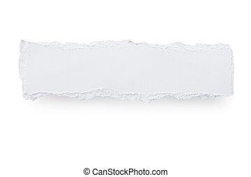 Torn Paper Banner - Torn white paper banner, casting soft...